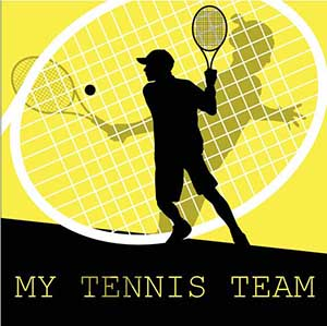 My Tennis Team Little Yellow Beetle- web design graphic, web design business